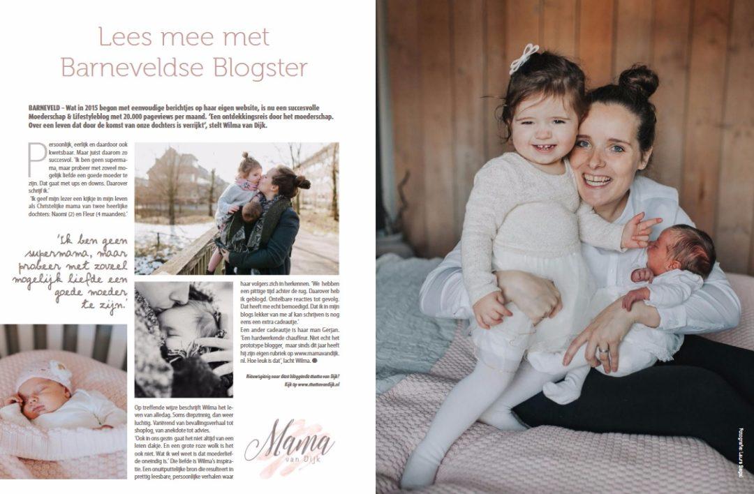 huis aan huis blad, mama van dijk, christelijke mamablogger, in de media, veluwe totaal, moederschap, mamablog