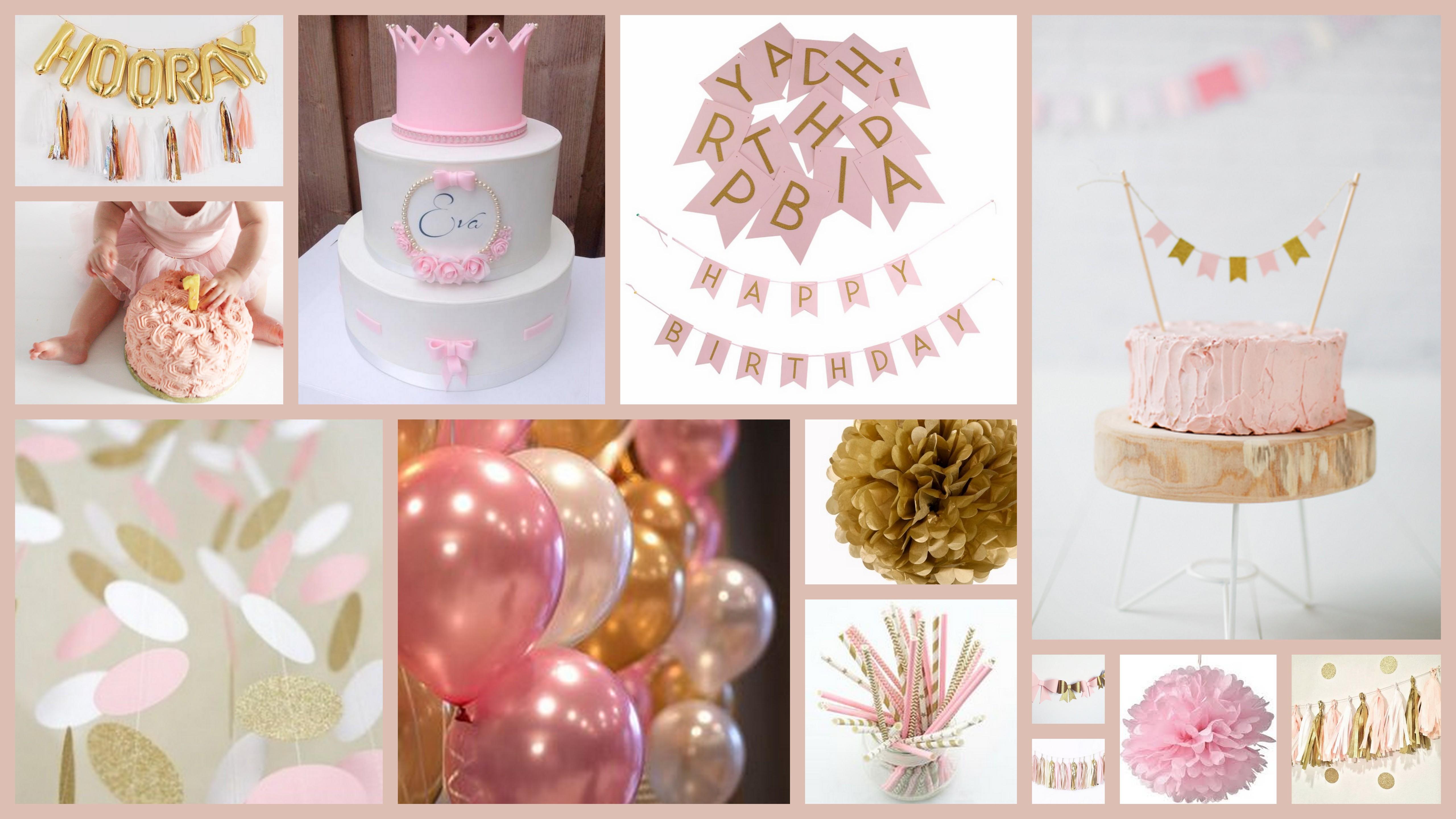 De eerste verjaardag het thema inspiratie en meer for Decoratie verjaardag