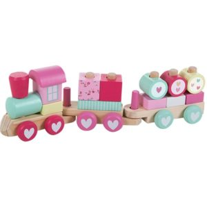 Little Dutch houten trein, verjaardag eerste, feest, roze, mamablogger, mama van dijk