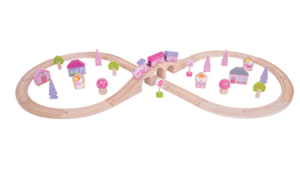 bigjigs, roze treinbaan, mama van dijk