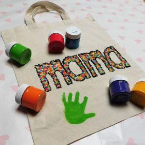 linnen tas bedrukken mamablog moederdag