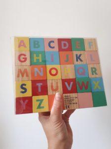 houten speelgoed HEMA, letters alfabet