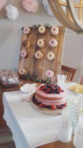 Donutwall, DIY, Naked cake, kinderfeestje inspiratie