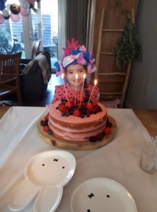 Kinderfeestje styling, naked cake