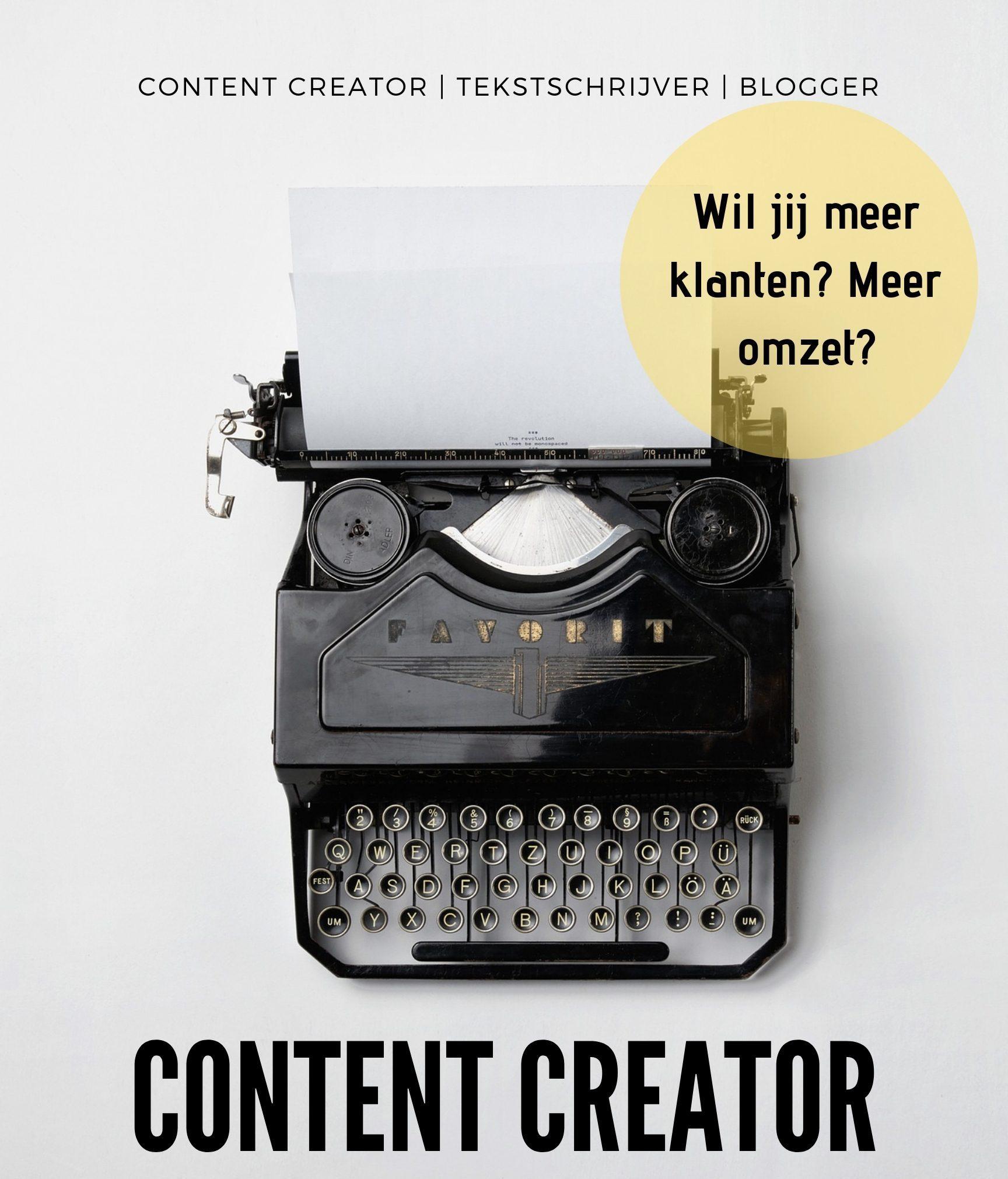 Content CREATOR _ TEKSTSCHRIJVER _ Blogger, Wilma van Dijk