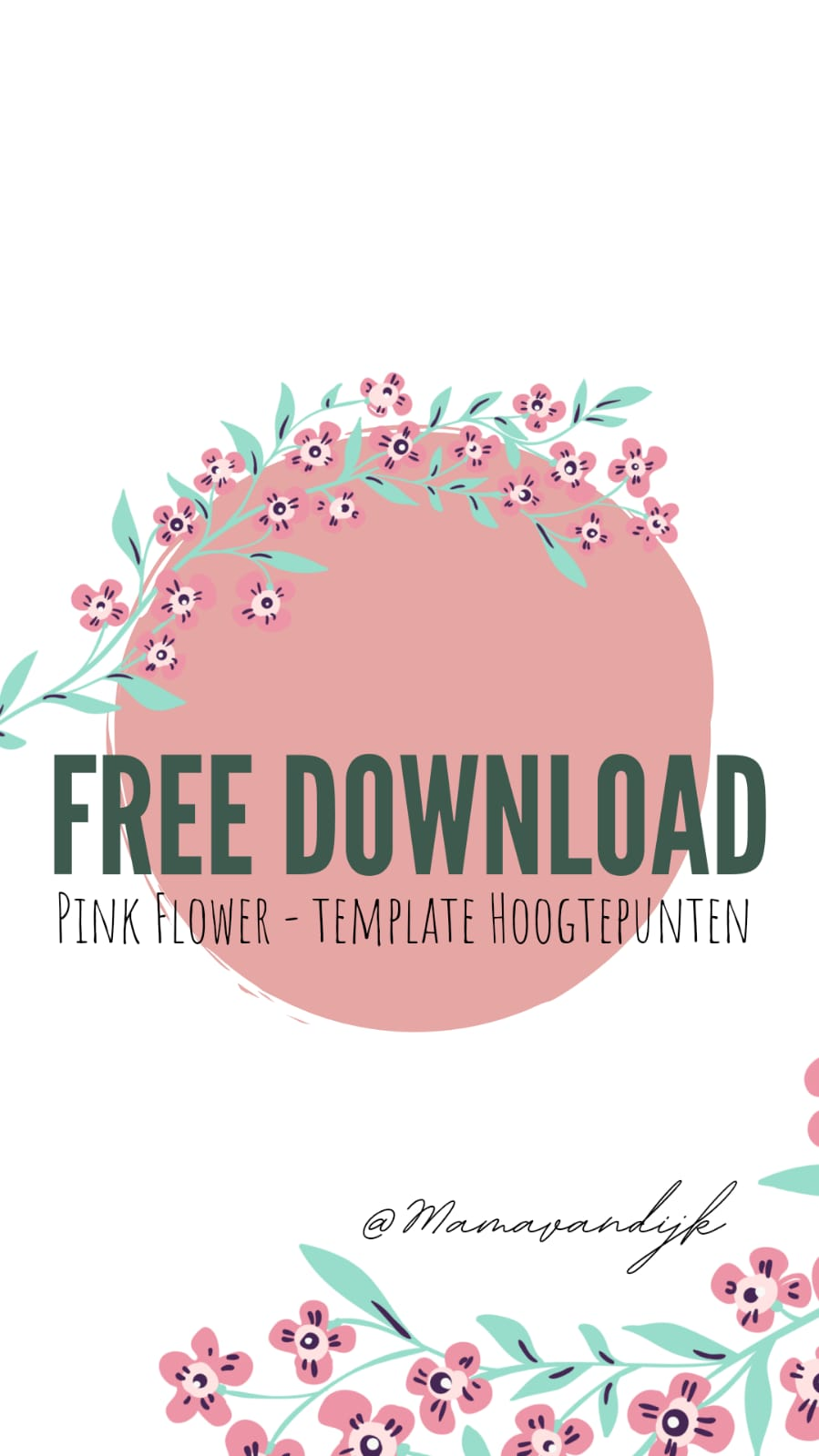 free download, template, hoogtepunten, instagram